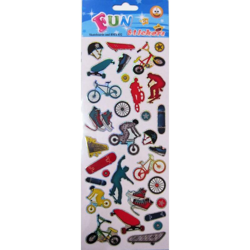 Fun Stickers Kulkuneuvot Tarra-arkki