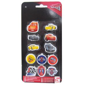 Cars 3 mini pyyhekumit 12kpl