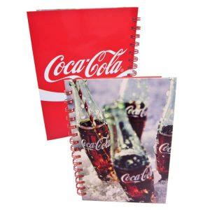 Coca-Cola pullo kovakantinen kierremuistikirja
